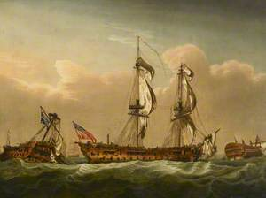 HMS 'Brunswick' after the Battle of the First of June, 1794