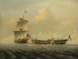 Action Between HMS 'Blanche' and the 'Pique', 5 January 1795