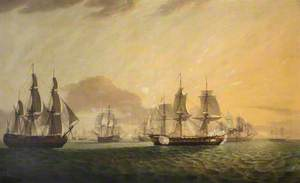 The East Indiaman 'General Goddard' Capturing Dutch East Indiamen, June 1795