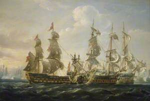 The 'Captain' Capturing the 'San Nicolas' and the 'San José' at the Battle of Cape St Vincent, 14 February 1797