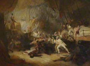 Nelson Boarding the 'San Josef' at the Battle of Cape St Vincent, 14 February 1797