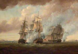 The Capture of the 'Resistance' and 'Constance' by HMS 'San Fiorenzo' and 'Nymphe', 9 March 1797