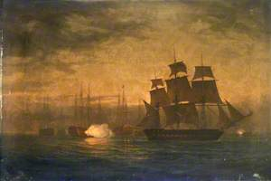 Escape of  HMS 'Clyde' from the Nore Mutiny, 30 May 1797