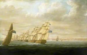 Nelson's Inshore Blockading Squadron at Cadiz, July 1797