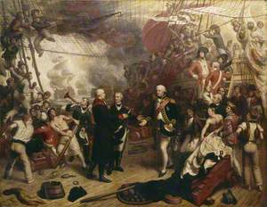 Admiral Duncan Receiving the Sword of the Dutch Admiral de Winter at the Battle of Camperdown, 11 October 1797