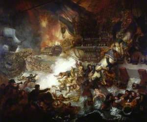 The Battle of the Nile: Destruction of 'L'Orient', 1 August 1798