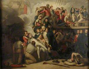 The Death of Nelson at the Battle of Trafalgar, 21 October 1805