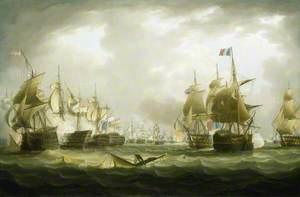 The Battle of Trafalgar, 21 October 1805: Beginning of the Action