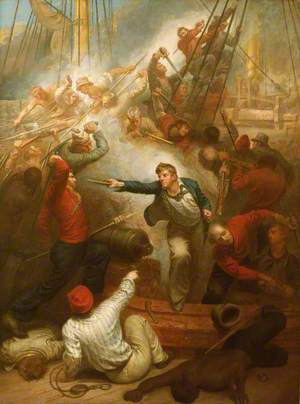 Captain William Rogers Capturing the 'Jeune Richard', 1 October 1807