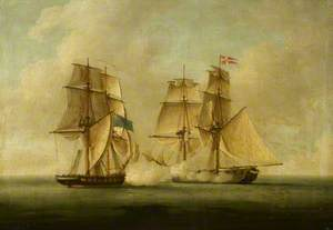 HMS 'Sappho' Capturing the Danish Brig 'Admiral Jawl', 2 March 1808: Ships Engaged