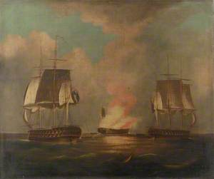 HMS 'Implacable' and 'Centaur', 27 August 1808