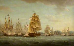 HMS 'Spartan' and French Frigates: Beginning of the Action, 3 May 1810