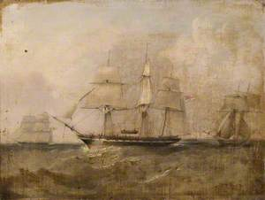 HMS 'Pearl' Capturing the 'Vengador'
