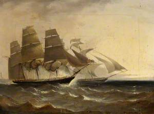 HMS 'Pearl' Capturing the Slaver 'Opposicao', 1838