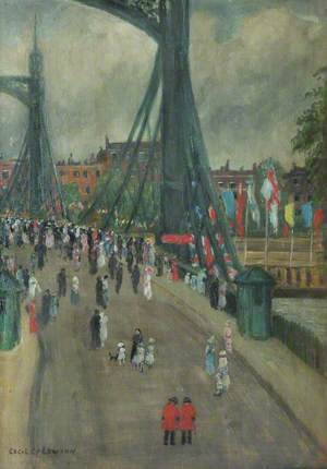 Albert Bridge (?) During the Peace Pageant River Procession, 4 August 1919