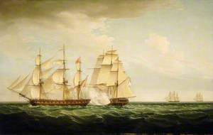 HMS 'Pearl' and the 'Santa Monica', 14 September 1779