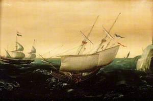 A Dutch Ship Close-Hauled