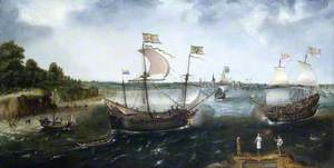 A Dutch Merchantman Attacked by an English Privateer, off La Rochelle