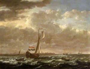 A Dutch Admiralty Yacht off Flushing