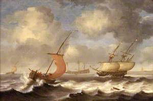 Dutch Ships in a Breeze