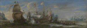 Action between Spanish and Dutch Ships