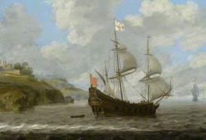 An English Ship Leaving the Coast