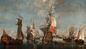 Shipping off Rotterdam