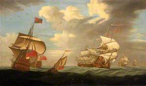 A Man-of-War Flying the Royal Standard, and Other Ships of the Fleet