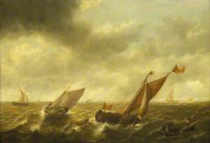 Fishing Boats in a Shallow Sea
