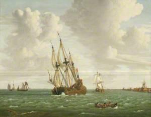 A Dutch Whaler Close-Hauled in a Breeze