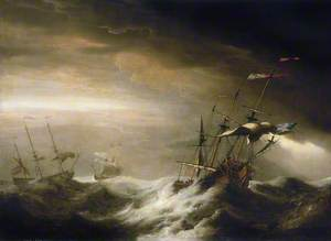 English Ships in a Storm