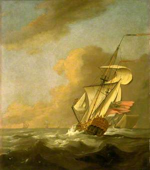 A Ketch-Rigged Royal Yacht in a Breeze