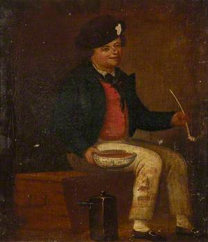 A Sailor Sitting on a Chest, c.1790