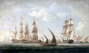 Attack on HMS 'Aurora' by Pirates, 1812: Beginning of the Action