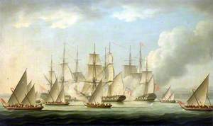 Attack on HMS 'Aurora' by Pirates, 1812: End of the Action