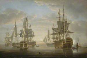 Nelson's Flagships at Anchor