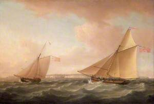 A Trinity House Yacht and a Revenue Cutter off Ramsgate