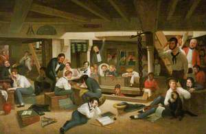 Life in the Ocean Representing the Usual Occupations of the Young Officers in the Steerage of a British Frigate at Sea