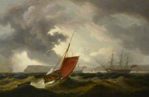 A Brixham Trawler Running into Torbay