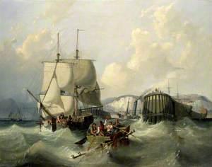 A Brig Leaving Dover