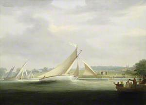 Yachts of the Cumberland Society Racing on the Thames, c.1815