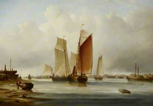 A Harbour Scene with Fishing Boats
