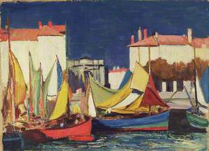 La Rochelle: Fishing Boats at the Quai des Dames, in front of the Fish Market