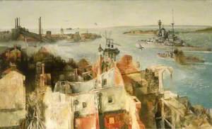 HMS 'Revenge' Leaving Harbour