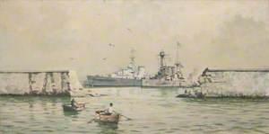 The Greek Cruiser 'Averoff' at Piraeus