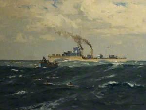 A Destroyer Picking up Submarine Survivors