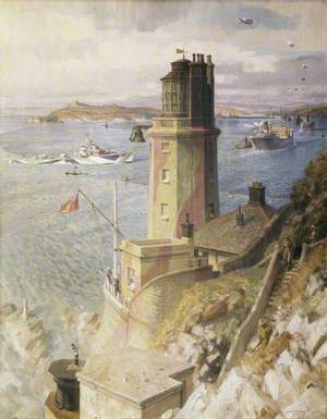 Convoy Arriving off St Anthony's Lighthouse, Falmouth
