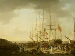 Cavalry Embarking at Blackwall, 24 April 1793