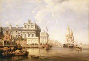 Greenwich Hospital from the East, 1835