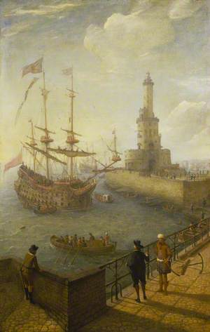 A Spanish Three-Decker at Anchor off Naples